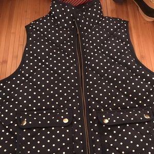 Like new J crew polka dot vest